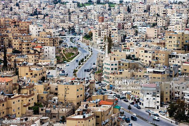 cityscape of amman - jordan stock pictures, royalty-free photos & images