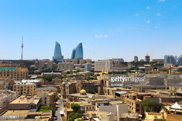 cityscape of baku - syolacan stock pictures, royalty-free photos & images