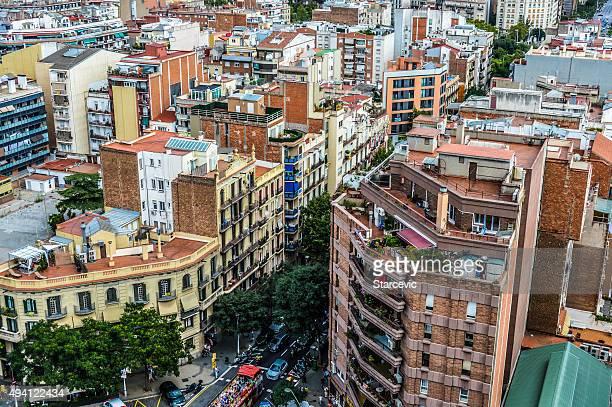 Paisaje de la ciudad de Barcelona, España