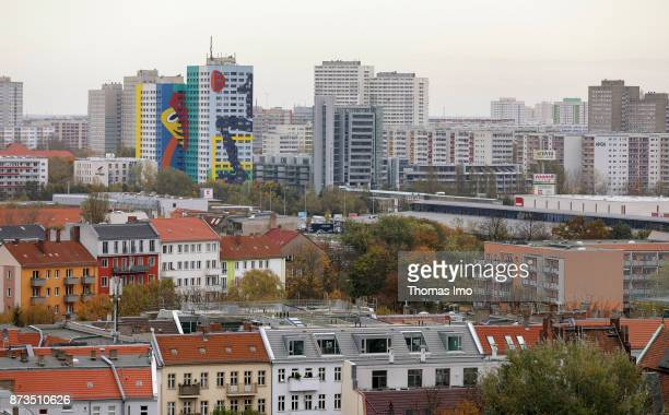 Cityscape of Berlin View from south on houses in Berlin Lichtenberg on October 21 2017 in Berlin Germany
