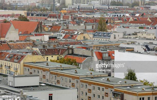 Cityscape of Berlin View over Friedrichshain on October 21 2017 in Berlin Germany