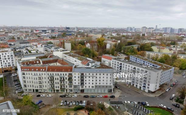 Cityscape of Berlin View over Friedrichshain on October 21 2017 in Berlin Germany