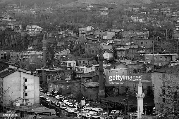 cityscape of bitlis, turkey - kurdish ethnicity stock pictures, royalty-free photos & images