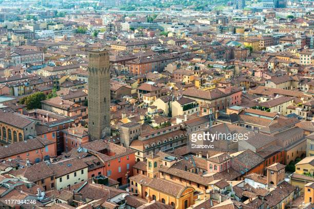 cityscape of bologna, italy - emilia romagna stock pictures, royalty-free photos & images
