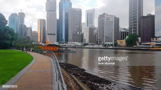 cityscape of brisbane, australia - amir mukhtar imagens e fotografias de stock