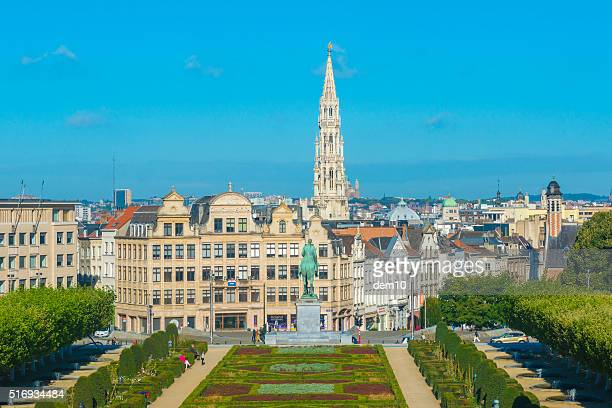Cityscape of Brussels from Mont des Arts
