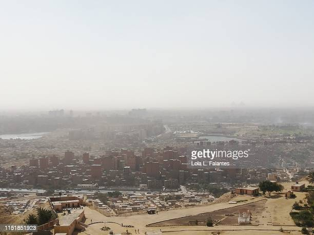 Cityscape of Cairo, with the City of the dead in the foreground, taken from Mokattam hills
