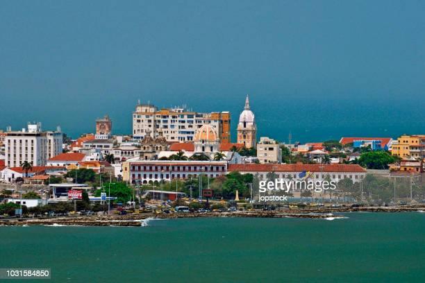 cityscape of cartagena, colombia - cartagena colombia fotografías e imágenes de stock