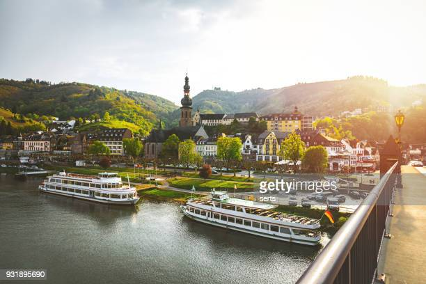 cityscape of cochem and the river moselle, germany - europe stock pictures, royalty-free photos & images
