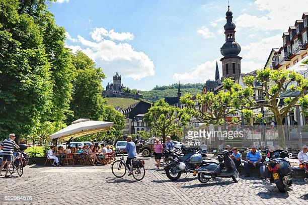 Cityscape of Cochem at Moselle river in summer.