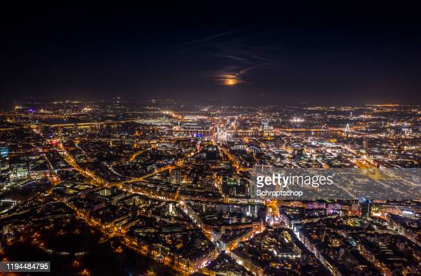 cityscape of cologne in germany - aerial - cologne stock pictures, royalty-free photos & images