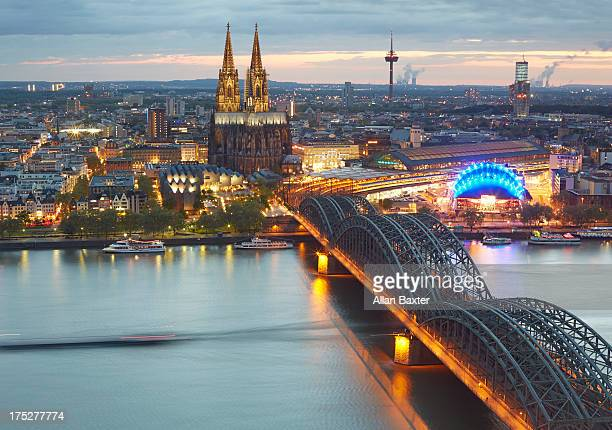 Cityscape of Cologne with Cologne cathedral