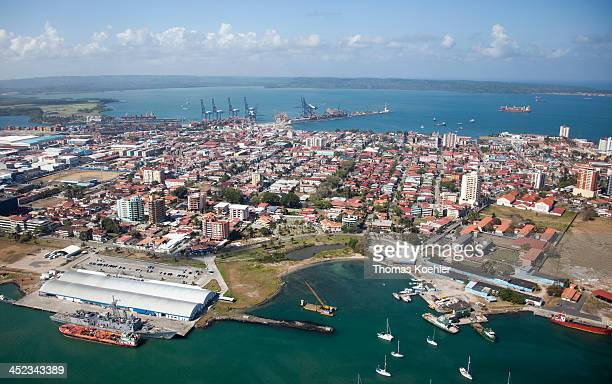 Cityscape of Colon the city is located on the Caribbean coast and at the entrance of the Panama Canal on February 18 in Colon Panama