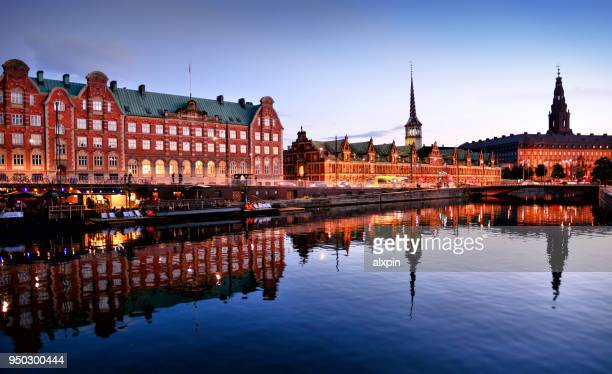 cityscape of copenhagen, denmark - christiansborg palace stock pictures, royalty-free photos & images