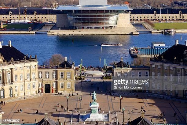 cityscape of copenhagen - amalienborg palace stock pictures, royalty-free photos & images