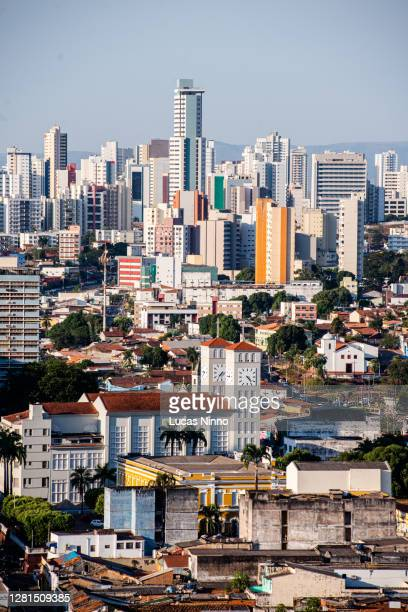 cityscape of cuiabá downtown - クイアバ ストックフォトと画像