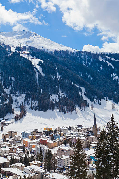 Cityscape of Davos, Grisons, Switzerland