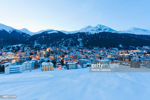 Cityscape of Davos, Switzerland