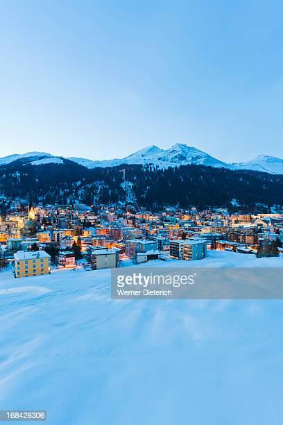 Cityscape of Davos, Switzerland
