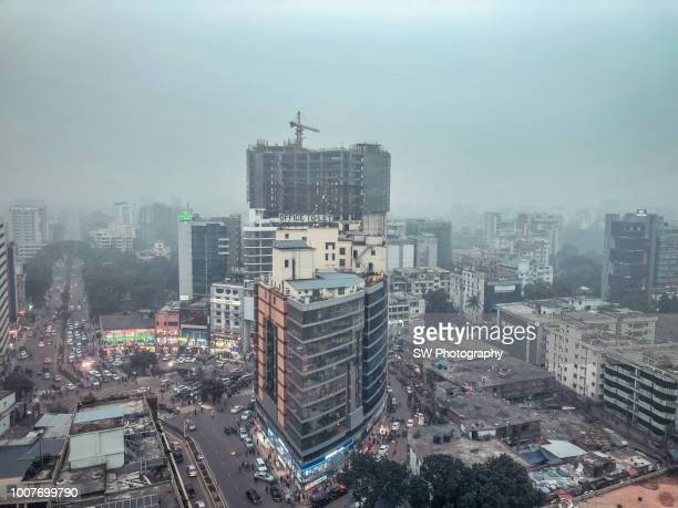 cityscape of dhaka in bangladesh - dhaka stock pictures, royalty-free photos & images