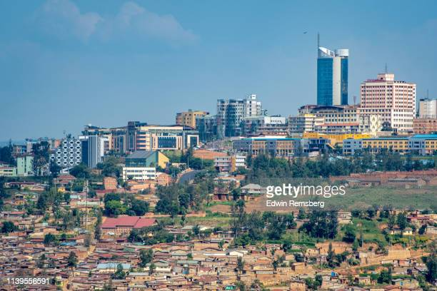 cityscape of downtown kigali - rwanda stock pictures, royalty-free photos & images