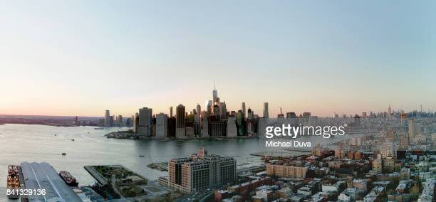 Cityscape of Downtown NYC, view from brooklyn