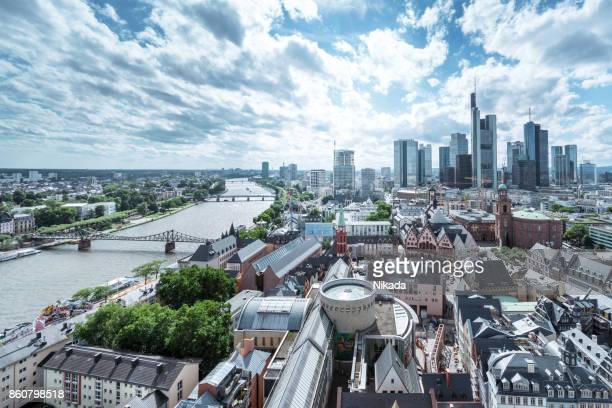 cityscape of frankfurt am main, germany - town stock pictures, royalty-free photos & images