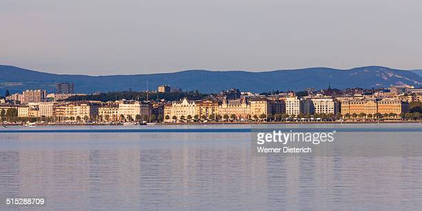 Cityscape of Geneva, Lake Geneva, Switzerland