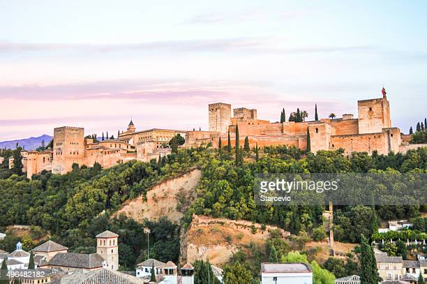 Cityscape of Granada, Spain during sunset