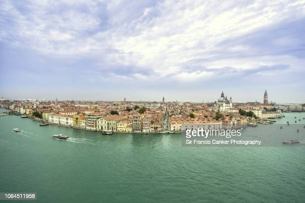 cityscape of grand canal of venice with st mark's cathedral and doge's palace in venice, veneto, italy - vaporetto stock pictures, royalty-free photos & images