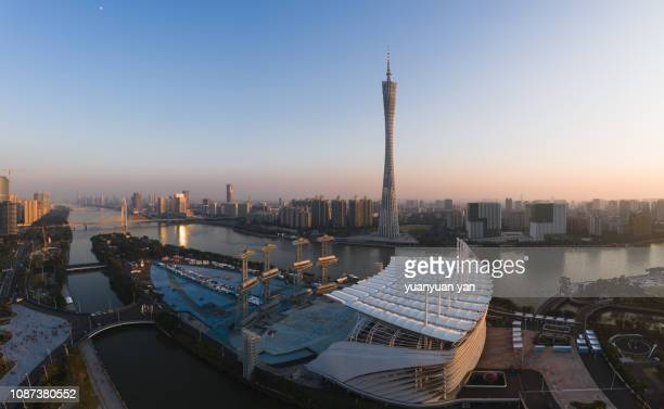 cityscape of guangzhou china - guangzhou stock pictures, royalty-free photos & images