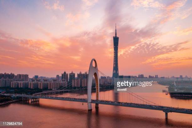 cityscape of guangzhou - guangzhou stock pictures, royalty-free photos & images