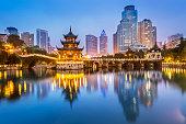 Cityscape of Guiyang at night