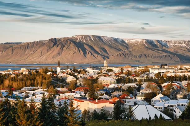 Cityscape of historical center, Reykjavik, Capital Region, Iceland