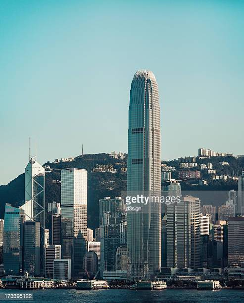 cityscape of hong kong at daytime - two international finance center stock pictures, royalty-free photos & images