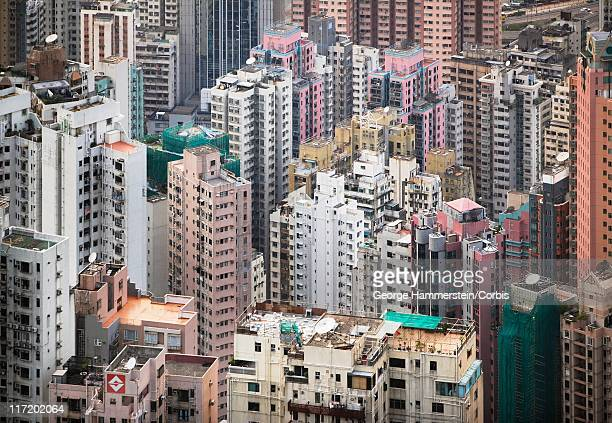cityscape of hong kong, china - hong kong stock pictures, royalty-free photos & images