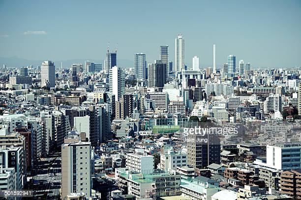 Cityscape of Ikebukuro skyscrapers