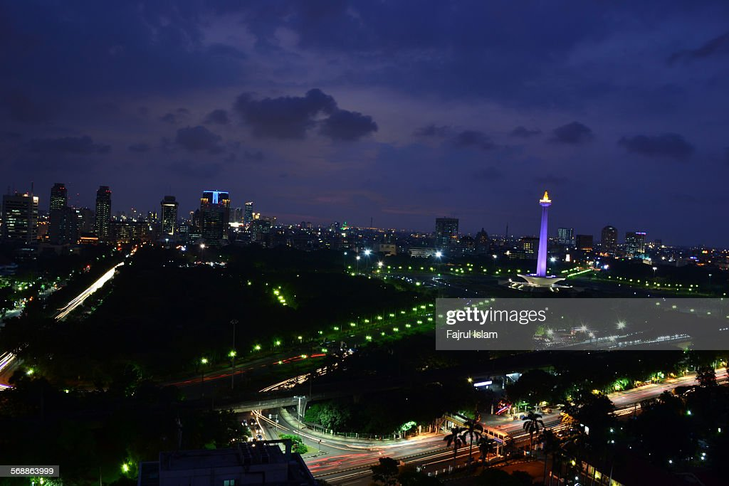 Cityscape of Jakarta : Stock Photo
