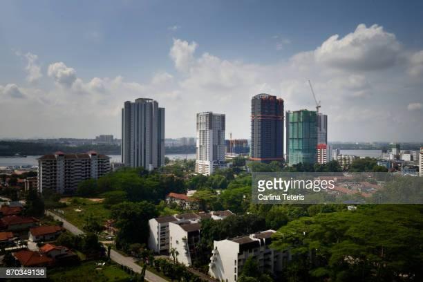 Cityscape of Johor Bahru looking across the Straits of Johor