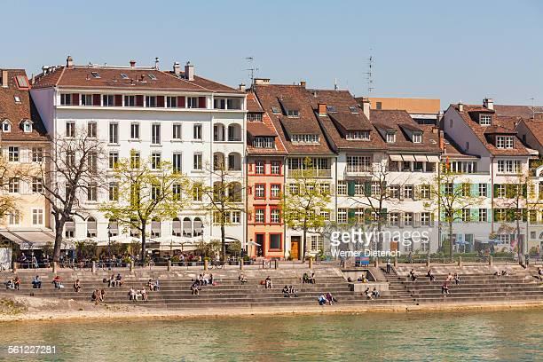 Cityscape of Kleinbasel ward, River Rhine, Basel