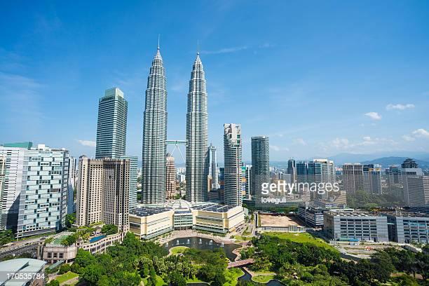 Paisaje de la ciudad de kuala Lumpur