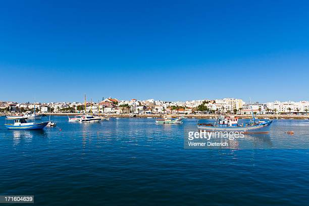 cityscape of lagos, algarve, portugal - lagos portugal stock photos and pictures