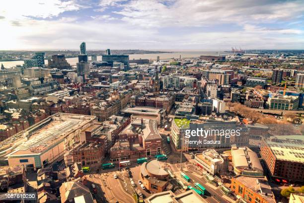 cityscape of liverpool, england - merseyside stock pictures, royalty-free photos & images