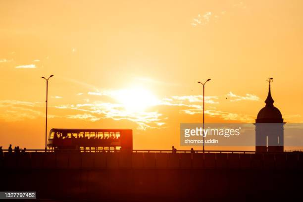 cityscape of london at sunset - morning stock pictures, royalty-free photos & images