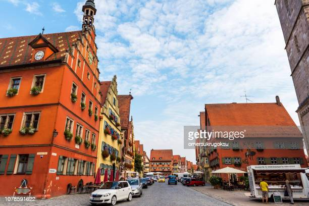 Cityscape of medieval town Dinkelsbuhl, Germany