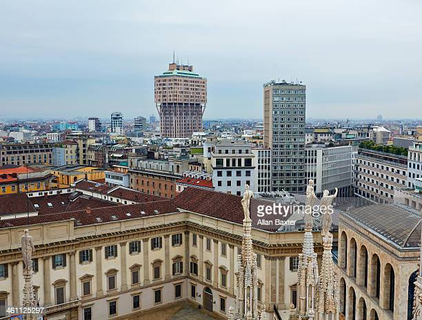Cityscape of Milan from Milan Cathedral