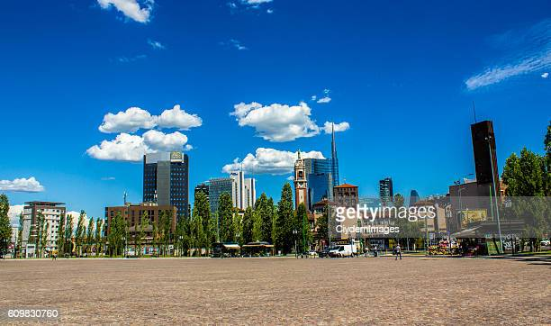 Cityscape of Milano in Italy in summertime