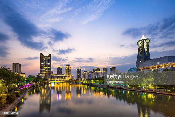 cityscape of modern city in hangzhou zhejiang