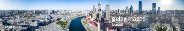 cityscape of modern city in tianjin - tianjin stock pictures, royalty-free photos & images