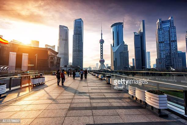cityscape of modern city, shanghai - pudong stock pictures, royalty-free photos & images